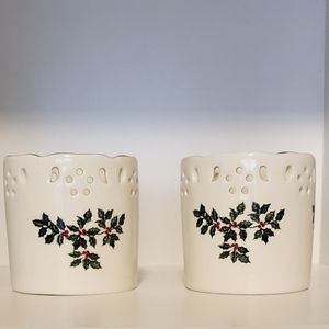 🎄Formalities by Baum Bros. Holiday candle holders
